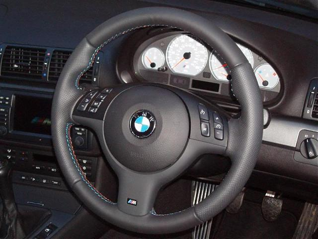E46 M3 Leather Steering Wheel Re Wrap Suggestions